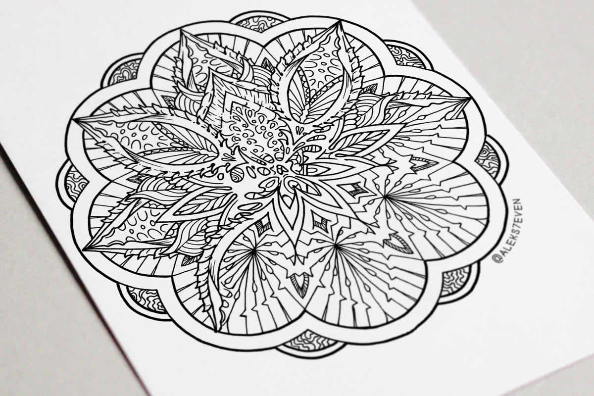 Seed of Life Coloring Page Mandala Featured Image