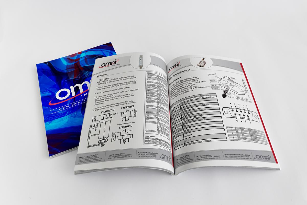 Omni Instruments Product Catalog Design