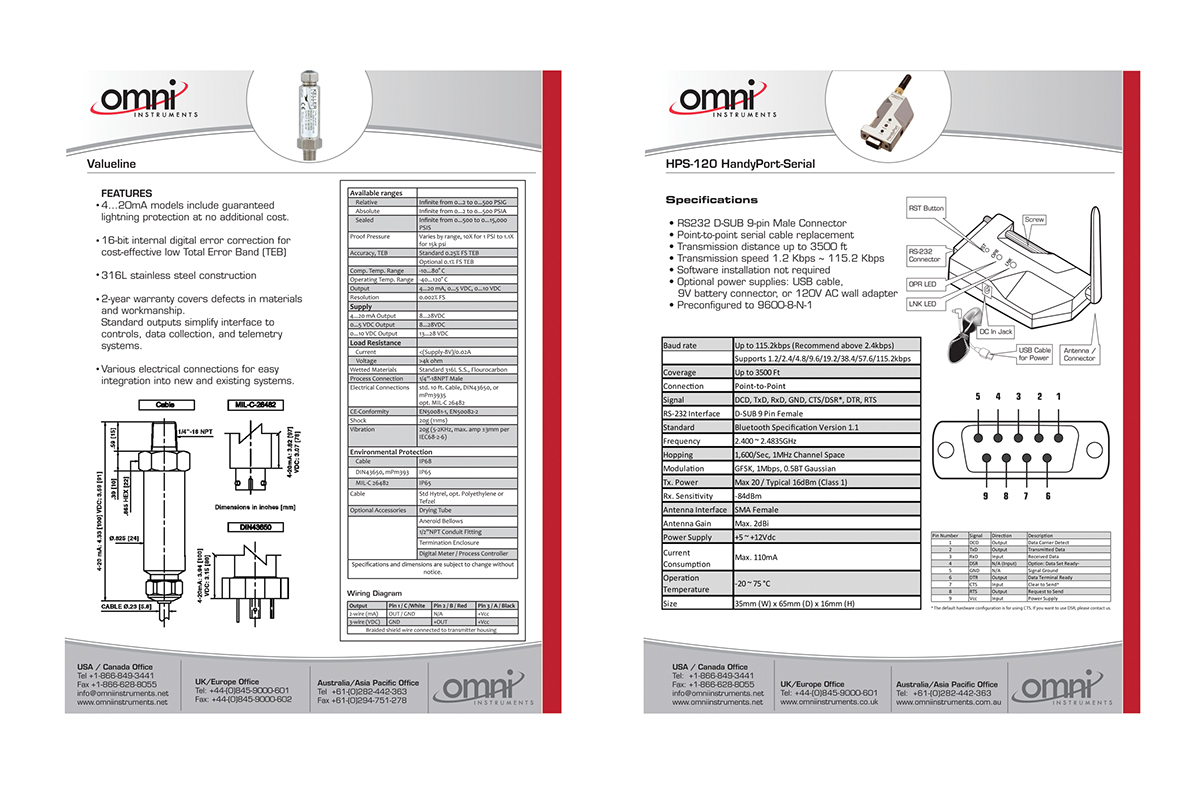 Omni Instruments Individual Product Pages Design